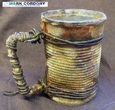 LARP Post Apocalypse tin drinking cup. Made by Mark Cordory Creations www.markcordory.com