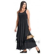 Black Midnight Sunita Fringed Boho 2-In-1 Indian Goddess Magic Gypsy Dress