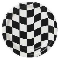 Pappteller Zielflagge: Mini - 17,8 cm