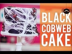 How To Make A BLACK COBWEB CAKE! Chocolate Cake, Black Ganache and filled with Halloween Candy! - YouTube