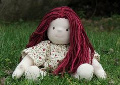 Waldorf Doll pattern & Tutorial package for doll hair & dress.