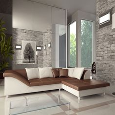 Une forme atypique pour personnaliser au mieux votre intérieur avec ce canapé d'angle Nixon.
