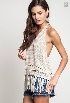 bdb24203b0668 Malibu white ivory crochet lace crop tank top