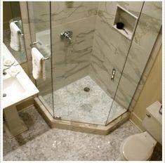 Nice corner shower