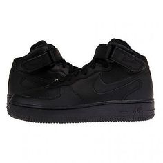 Nike Air Force 1 Mid Gs Big Kids 314195-004 Black Shoes Sneakers Youth Size 6.5