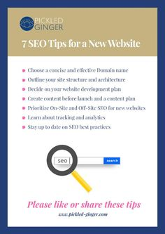 Pickled Ginger, Best Seo, Seo Tips, Pickles, Product Launch, Trends, How To Plan, Website, Learning