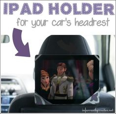 Check out this simple tutorial for sewing an iPad holder for your car's headrest!
