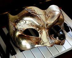 Music Theme Mens Mask for Ball www.venetianfantasymasks.com