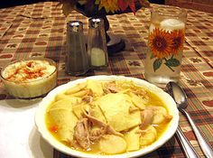 Chicken Pot Pie (The Real Pennsylvania Dutch Way!) - Chicken Pot Pie (the real Pennsylvania Dutch Way!) Note: This pie does not have a crust, but the - Amish Recipes, Cooking Recipes, Yummy Recipes, Pennsylvania Dutch Recipes, Amish Pennsylvania, Chicken And Dumplings, Chicken Potpie, Stromboli, German Recipes