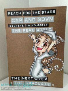 Sweet Designzz using Graduation Mae (#digi) from Some Odd Girl. #digitalstamps #graduationcards