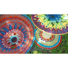 Carretel pintado a mão, mandala.  Instagram @aguiarte  Angra dos Reis RJ  #artesanato #cor #vida #simples #decoração #interiores #artesanato