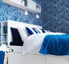 Camera da letto Ikea comoda e funzionale - Una camera da letto bella da vedere e da vivere grazie a Ikea