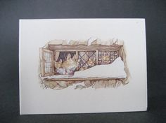 2 Brambly Hedge Christmas Gift Cards Jill by MyVictorianCottage