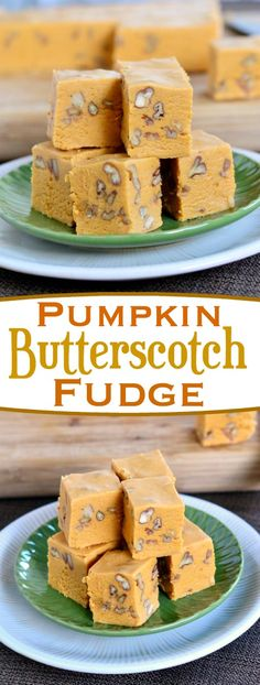You're going to love the delicious flavor of this Pumpkin Butterscotch Fudge!  Creamy and incredibly delicious! Perfect for the fall and holiday season! // Mom On Timeout