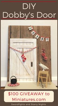 Make Dobby's Door using an elf door kit! It's time for the Miniature Blog Hop and $100 GIVEAWAY! See how you can make your own Dobby's Door, grab a discount code, and check out the other elf doors! Harry Potter home decor