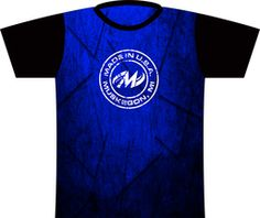 Motiv Deep Blue Dye Sublimated Jersey. A deep blue, grungy shirt themed after Style 0039!  Motiv Muskegon logo full front and full back.