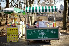new york city central park hot dog stand!