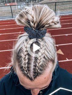 Cute Braided Hairstyles, Teen Hairstyles, Athletic Hairstyles, Hairstyles Videos, Cute Sporty Hairstyles, Hairstyles With Braids, School Hairstyles, Twist Hairstyles, Relaxed Hairstyles