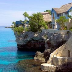 The Caves, swanky honeymoon spot in Negril, Jamaica. LOVE! Brides.com