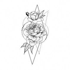 Roses in geometry Temporary Tattoo / Dots lines flash tattoo.- Roses in geometry Temporary Tattoo / Dots lines flash tattoo / Drawing flower Rosebud / Female Thigh tattoo Festival accessory Gift for Her Cute bracelet tattoo - Rose Tattoos, Body Art Tattoos, Sleeve Tattoos, Female Back Tattoos, Tatoos, Thigh Tattoos For Women, Rose Bud Tattoo, Calf Tattoos, Tattoo Female