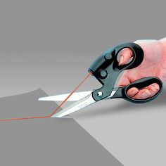 Always making a complete hash of your paper cutting tasks? Then why not get some ultimate accuracy laser scissors to produce awesome lines everytime. Perfect for scrap-booking, gift wrapping, wall pap