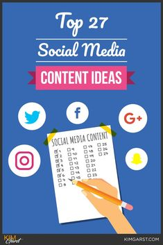 Are you stuck in a rut and not sure what to post when it comes to your social media? Check out these 27 social media content ideas that are sure to get you more likes, comments and shares! Social Media Marketing Business, Content Marketing Strategy, Facebook Marketing, Internet Marketing, Mobile Marketing, Marketing Ideas, Digital Marketing, Inbound Marketing, Strategy Business