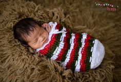 Christmas Swaddle Sack Striped Swaddle Sack by MyDaintyDreams