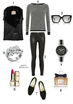 RDuJour Outfit of the Day Karl Donoghue Gillet Saint Laurent Mohair Sweater Celine Sunglasses Boodles Diamond Stack Ring Celine Sunglasses