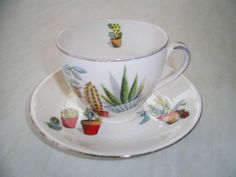 Alfred Meakin cactus tea cup and saucer