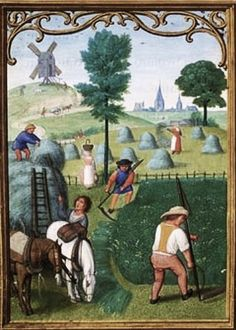1515 Da Costa Hours in Latin Illuminated by Simon Bening 1484 1561 Belgium Bruges  Making Hay.