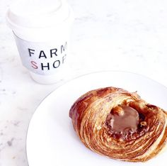 #FarmshopLA Start your morning with a coffee to-go and a delicious Nutella Danish from #Farmshop! / Photo credit: Joie de Jude by Judith Jones