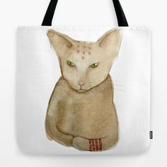 Totem Kitteh 1 tote bag on Society 6