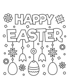 We are sharing awesome collection Happy Easter Coloring Pages For Kindergarten, Students, Kids, Toddlers & Preschoolers. Get Free Printable Easter Colouring Sheets Easter Coloring Pages Printable, Easter Bunny Colouring, Bunny Coloring Pages, Easter Egg Coloring Pages, Coloring For Kids, Coloring Pages For Kids, Adult Coloring, Coloring Books, Free Easter Printables