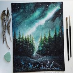 The Magical Bridge Between Landscape Paintings and Reality and Imagination: Jennifer Taylor - Art Drawings Art Inspo, Inspiration Art, Galaxy Painting, Galaxy Art, Art Galaxie, Arte Emo, Art Et Nature, Blog Art, Drawn Art