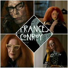 Frances Conroy, American Horror Story Coven, Goth Hair, Evan Peters, Me Tv, Myrtle, Horror Stories, Magick, Witches