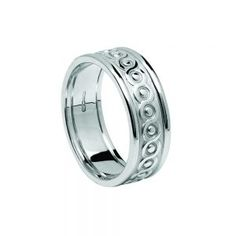 Gents Continuity Celtic Wedding Ring with Trims – Celtic Jewelry by Boru ® Irish Wedding Rings, Ring Shapes, Fashion Rings, Range, Engagement Rings, Jewelry, Style, Enagement Rings, Swag
