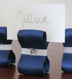 Table Settings Wedding Decor Navy Blue and by ReservedSeating