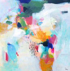 Pintura abstracta pintura Original técnica mixta sobre