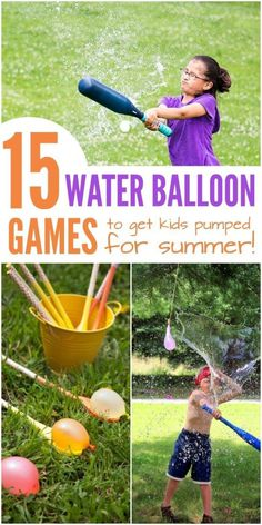 15 Water Balloon Games to Get Kids Pumped for Summer - Water Balloons - Ideas of Water Balloons - Nothing says summer like a big bucket full of water balloons. Who doesnt love a good water balloon fight? But if youre looking for ways to up t Balloon Games For Kids, Water Balloon Games, Water Games For Kids, Summer Activities For Kids, Summer Kids, Fun Activities, Summer Games, Backyard Water Games, Water Party Games