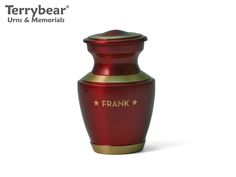 Terrybear Crimson Trinity Keepsake with Engraving. This Keepsake can hold a small amount of cremated remains.