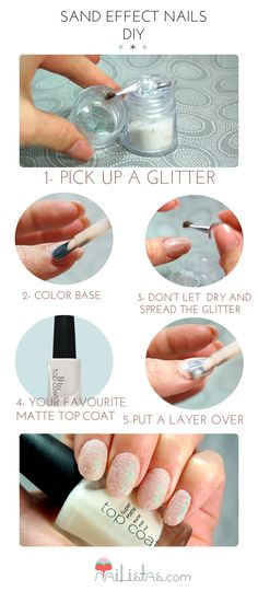 Sand Effect Nails Step by Step // DIY NAILS #DIY