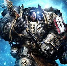 Grey Kinght in Terminator armor. Warhammer 40k