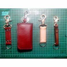 Leather Lanyard Keychain