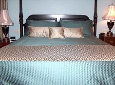 Custom Bedding, Shams, Pillows, Coverlet