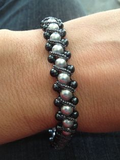 Right angle weave bracelet.love the color