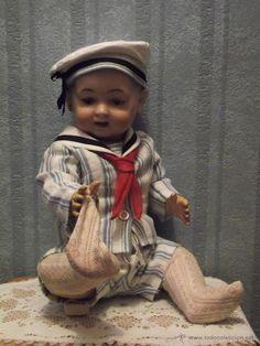 antigua muñeca carácter MORIMURA BROS antique character doll