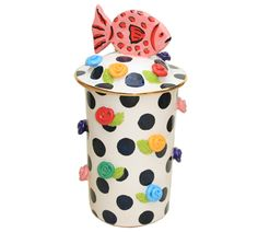Studded Pasta Jar (Fish) - Mary Rose Young
