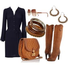 Pieces to re-create a look that Reese Witherspoon wore. I seriously love camel and navy a little too much.