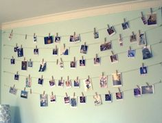 Memory corner by cork board and hang everything on the strings (pictures, tickets, letters)