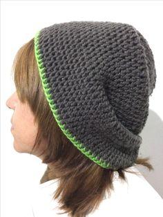 Gorro a crochet: Ganchillo de 5mm/ lana de 5mm 100% acrilica 100g aproximadamente/ Punto alto / By: GM